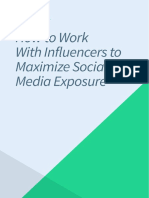 Work With Influencers to Maximize Social Media Exposure
