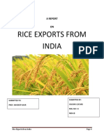 Rice Exports From India