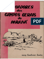 Onei Borba - Povoadores Dos Campos Gerais