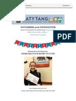 Supervisor Tang November Newsletter English