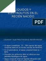 Liquidos y Electrolitos en El Recien Nacido