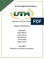 Informe de Manufactura II
