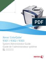 Xerox ColorCube 9303 Sys Admin Guide Us-En