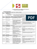 Mongolia RS_GIS International Conference Agenda