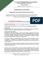 Informações Concursos RAM 2016_2017 - Etapas e Prazos
