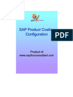 CO Product Costing Config
