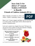4th Annual Sangria Contest Fundraiser!