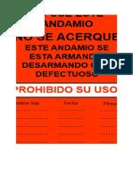 Tarjeta Roja de Andamio