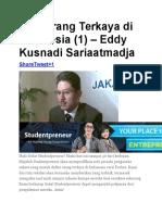 Seri Orang Terkaya Di Indonesia