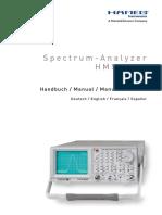 Analizador de Espectro HAMEG