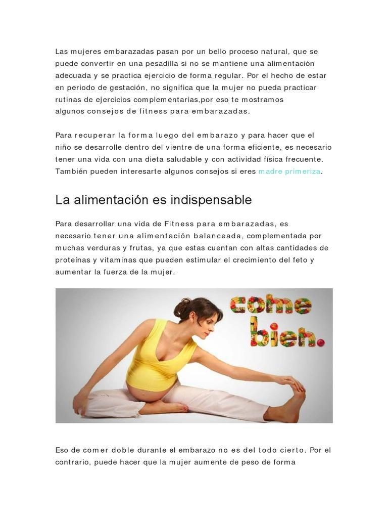 Dietas fitness para embarazadas