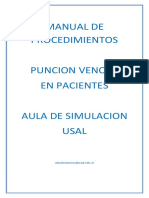 Manual de Procedimientos Puncion Venosa