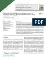 Crop Productivity Aroma Profile and Antioxidant Activity in Pelargonium Graveolens L-H-r Under In
