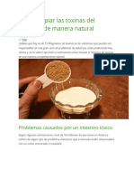 Cómo Limpiar Las Toxinas Del Intestino de Manera Natural