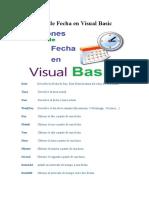 Funciones de Fecha en Visual Basic