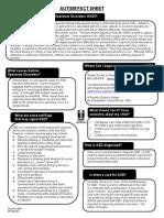 autism fact sheet english