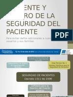 Presente y Futuro de La Seguridad Del Paciente en Colombia