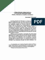 Forma-Estado Democratica y Actuacion Penitenciaria Poder y Libertad en El Ambito Carcelario