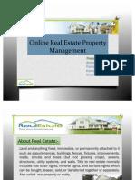 Online Real Estate Property Management