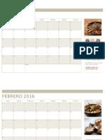 Calendario estadistica