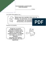 Ficha de lenguaje y comunicación texto descriptivo