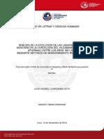 ANÁLISIS de LA EVOLUCIÓN de LAS LAGUNAS de ALTA Montaña en La Cordillera Del Vilcabamba Entre Los Años 1991-2014 Mediante Metodos de Sensoramiento Remoto y Sig