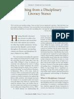 Pytash&Ciecierski(2015)DisciplinaryLiteracy