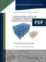 diseño estructural de concreto armado 5 niveles