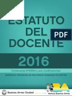 Estatuto del Docente de la Ciudad de Bs.As. Oct 2016