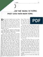 Xu Hướng Nhập Thể Trong Tư Tưởng Phật Giáo Trần Nhân Tông - Nguyễn Tài Thư