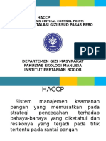 Penerapan Haccp (Hazard Analysis Critical Control Point