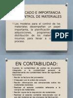 SIGNIFICADO E IMPORTANCIA DEL CONTROL DE MATERIALES