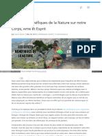 Lauramarietv Com Les Effets Benefiques de La Nature Sur Notr