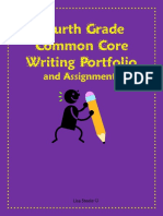 Common Core Fourth Grade Writing Portfolio Checklist and Assignments