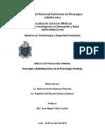 Conceptos y Delimitación de La Psicología Criminal