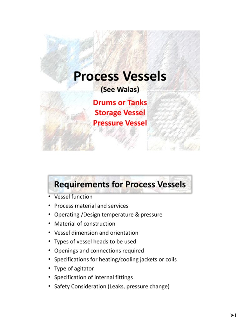 Requirements for Process Vessels
