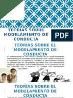 Teorías Sobre Modelamiento de Conducta