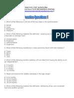 Practice Questions 1