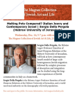 Melting Pots Compared? Italian Jewry and Contemporary Israel   Sergio Della Pergola (Hebrew University of Jerusalem)