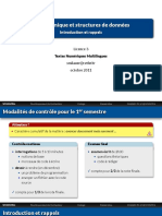 Algorithmique et Structure de données Licence 3
