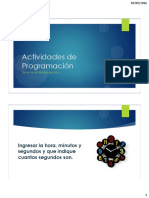 Actividades de Programación