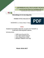 Metodología de La Investigación, Corregido El Plantiamiento Del Problema