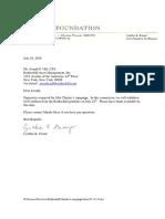 Rothschild Clinton's Campaign Letter 07-19-16