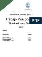 TP 2 - Mecánica de Suelos y Rocas I - Gravimetría