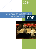 Diplomado en comisariado y manejo de colecciones