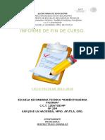 Informe de Fin de Curso 2015