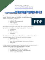 Psychiatric Nursing Practice Test 1