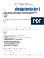 Psychiatric Nursing Practice Test 5