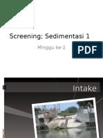Intake, Bar Screen Dan Sedimentasi 1