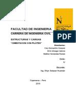 Informe de Estructuras Cimentacion Con Pilotes (1)